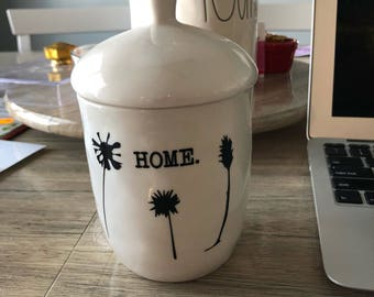 "Rae Dunn inspired ""home."" Decals"