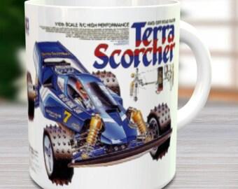 Terra Scorcher Coffee Mug with Optional Keychain, Vintage Model, RC Coffee Mug, Gift For Him, Hobbyist, Radio Controlled Car, Coffee Cup