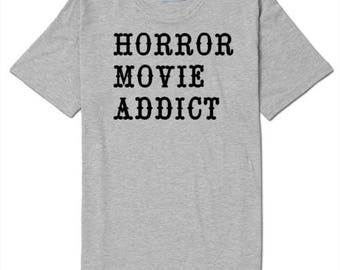 Horror Movie Addict T Shirt Clothes Many Sizes Colors Custom Horror Halloween Merch Massacre