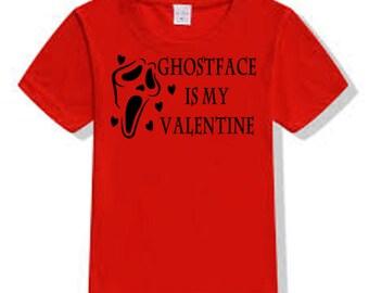 Scream Ghostface Killer Slasher Valentine's Day T Shirt Clothes Many Sizes Colors Custom Horror Halloween Merch Massacre