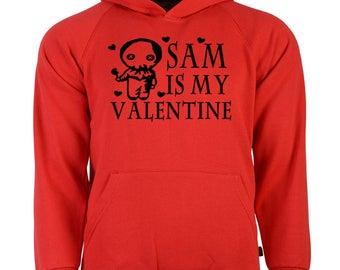Trick or Treat Sam Valentine's Day Unisex Hoodie Pullover Sweatshirt Sizes Colors Custom Horror Halloween Merch Massacre