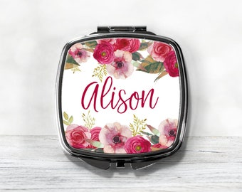 Bridesmaid Gifts - Personalized Compact Mirror - Bridesmaid Proposal