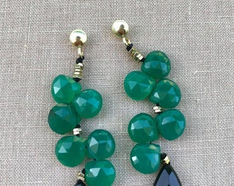 Emerald Earrings Hard Stones
