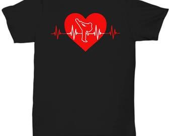 Karate Heartbeat Tee Shirt - Martial Arts T Shirt