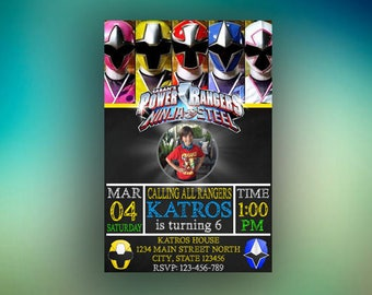 Power Rangers Invitation,Power Rangers Birthday,Power Rangers Party,Power Rangers Card,Power Rangers, Power Rangers,Rangers,Boy