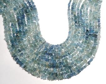 Fantastic Super Quality Natural Untreated Shaded SANTA MARIA Aquamarine 3-8 MM Rough Chips Beads 14 Inch