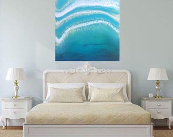 Surf Waves on a Sunny day | Contemporary Ocean Art