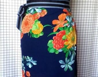 cotton pareo/blue sarong