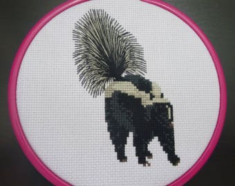 Skunk Cross Stitch Pattern