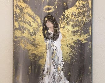 Gilded Angel Painting