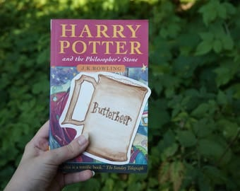 Butter Beer Harry Potter bookmark