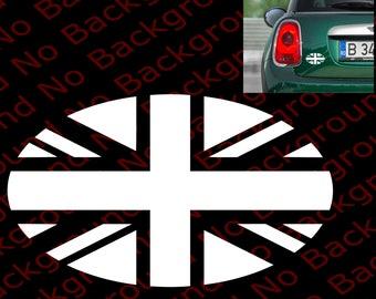 Black Union Jack UK British Flag Mini Cooper Window Die Cut No Background Vinyl Decal Sticker for JCW John Cooper Works MCS Hardtop  MN004