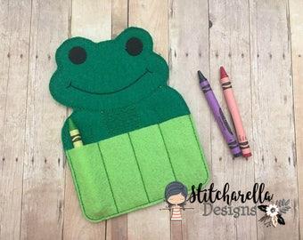 Frog Crayon Holder