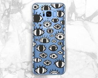 Eyes phone case Samsung 8 plus case Eye cases Samsung Galaxy s9 Eyes clipart Galaxy 7 edge phone case Eye Samsung A5 2017 case note 8 phone