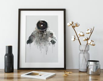 Astronaut, Astronaut Art Print, Space Art Print, Space Wall Art, Astronaut Poster, Astronaut Art, Space Poster, Wall Art Decor