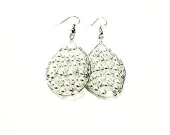 Pearl Hooped Beaded Earrings