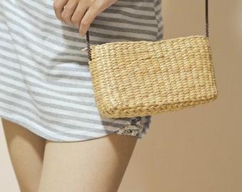 Crossbody bag weaving seagrass / straw purse
