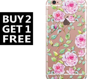 iPhone 7 plus case Floral iphone 7 case roses iphone 6s case clear iphone 6s plus case silicone iphone 6 transparent iphone 6 plus rubber 92
