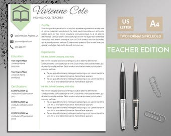 Usa Jobs Resume Builder Pdf Teacher Resume  Etsy Skills To Include In A Resume Excel with Portfolio For Resume Word  Operations Supervisor Resume Excel