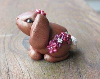 Fuchsia Magenta Flower Bunny Rabbit