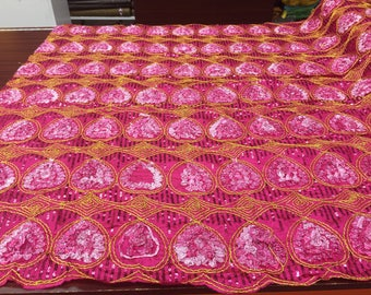 Pink All Over Sequence Fabric