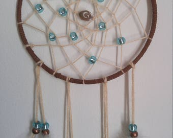 Brown and teal dream catcher