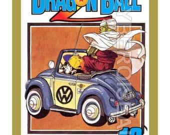 Dragon Ball Z and Cox VW VolKswagen beetle magnet