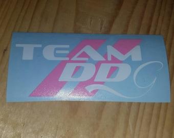 """Dodge Dart Girls support decal """"Team DDG"""""""
