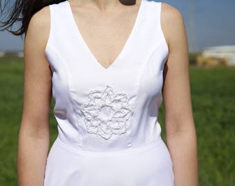 Yoga wedding dress, Spiritual wedding dress, Shanti wedding dress, Israeli wedding dress designer, Sheath wedding dressת Moonflower Mandala