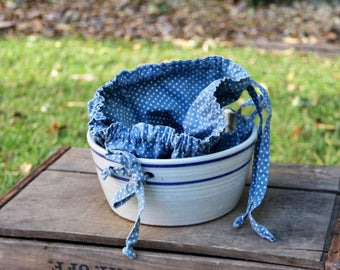 Bread Crock - Blue Line Crock - Blue Crock Bowl - Vintage Bread Bowl - Old Bread Crock - Stoneware Bowl - Vintage Bread Basket - Bread Bowl