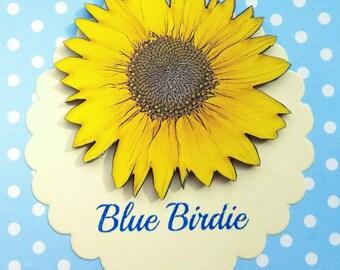 Sunflower brooch sunflower jewelry sunflower jewellery sun flower badge sunflower summer accessories flower jewellery sunflower garden gift