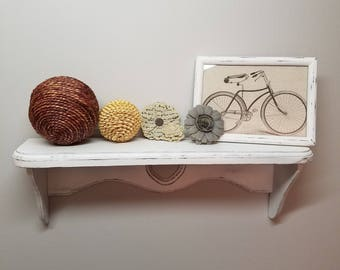 Vintage French Country Shabby Chic Wall Shelf