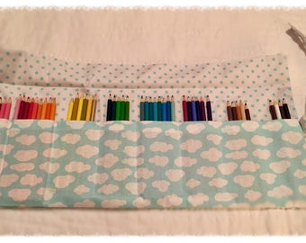 Hand sewn pencil roll case