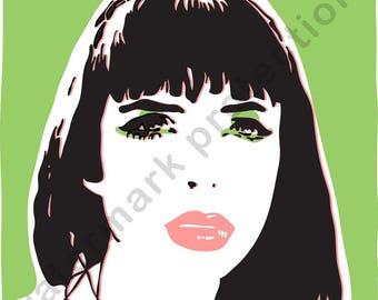 Printable art / Wall art / Digital download / Krysten Ritter art / Jessica Jones art / Housewarming gift