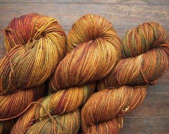 Cinnamon Superwash Merino - hand dyed yarn