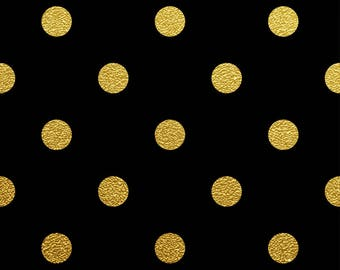 Polka dots/black/gold/spots/printed vinyl/HTV/vinyl/651/oracal/adhesive/blanks/small business/heat transfer/