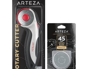 Arteza 45mm Quilting Rotary Cutter & 5 Replacement Blades (SKS-7, Set of 6)