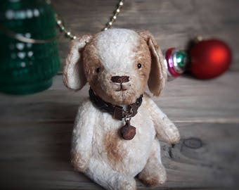 Dog Teddy, Puppy, stuffed jointed animal