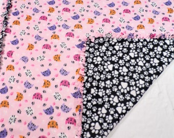 Cat Lover and Paw Print Fleece Blanket