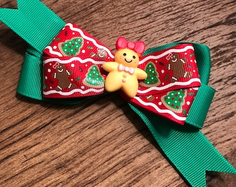 Christmas cookie  hair bow