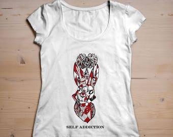 Self Addiction Mad Rabbit Designer T-shirt