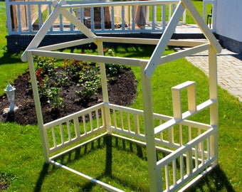 Toddler Bed Twin Children Bed House Bed With Fence Bed