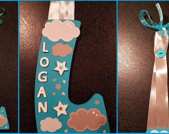 "first name letter wall ""LOGAN"""