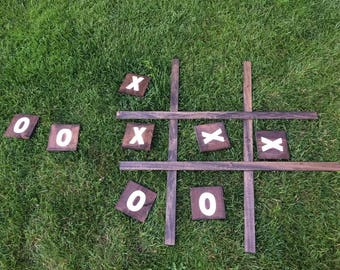 Handmade Wood X's and O's Lawn Game (3 colour options!)