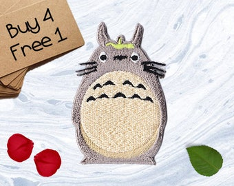 Totoro Applique Iron On Embroidered Patches