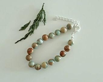 Natural Serpentine Summer Bracelet