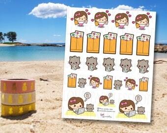 Sticker Addict | Happy Mail | Kawaii | Functional | Planner Sticker | Matte | Scrapbooking
