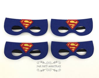 Superman Party Masks, Superman Party, Superhero Party