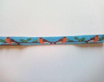 Native American Robin choker necklace
