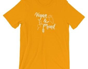 Vegan and Proud T Shirt, Vegan Shirt, Vegan Tee, Vegan T-Shirt, Vegan Pride